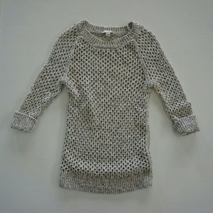 GAP Sweaters - GAP GRAY HEATHERED OPEN WEAVE CREW NECK SWEATER