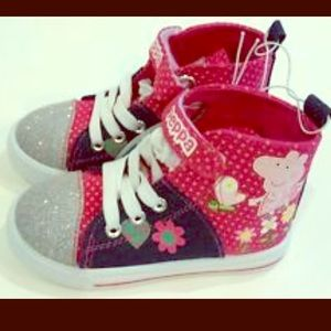 Peppa Pig Other - PEPPA PIG TODDLER CANVAS FLORAL HI-TOP SNEAKERS