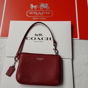 Coach Handbags - COACH Leather Wristlet - Authentic