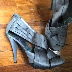 Silver Gray Formal Heels