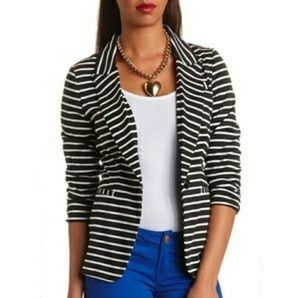 Charlotte Russe Striped Blazer