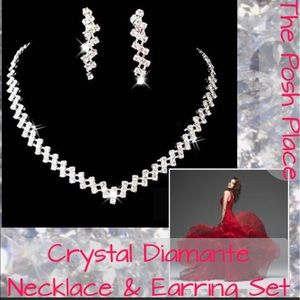 Jewelry - 💎 Crystal Diamanté Necklace & Earring Set 💎