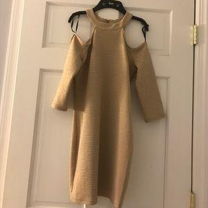 Bebe shoulder cut dress