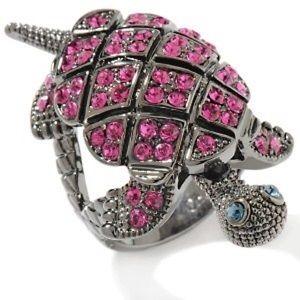 {PRINCESS AMANDA} Fuchsia Crystal Turtle Ring