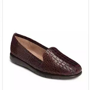 "aerosoles  Shoes - Aerosoles ""Army"" Red Croc Slip-on Loafer"