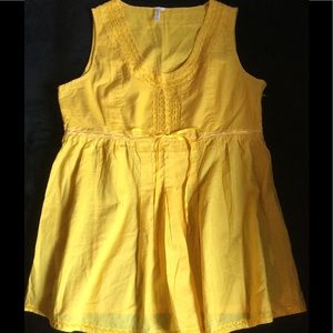 Tops - JAJA & Co. Canary Yellow Sleeveless Top