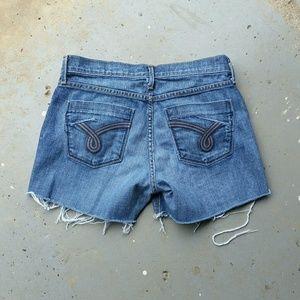 James Jeans Pants - JAMES DRY AGED DENIM CUT OFF JEAN SHORTS