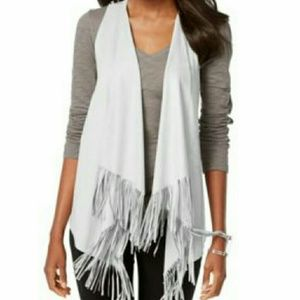 INC International Concepts Other - INC International Concepts Faux-Suede Fringed Vest