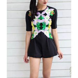 Alice McCall Pants - ALICE MCCALL Floral Romper Intricate Mini Jumpsuit