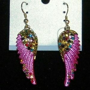 Jewelry - Angel wing earrings - assorted colors