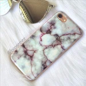 Brandy Melville Accessories - Purple marble iPhone 7/7+ Case