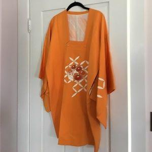Bright Orange Over Kimono