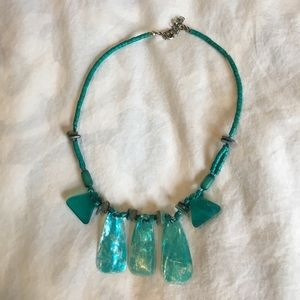Turquoise stone handmade necklace
