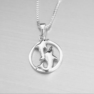 Jewelry - Sterling Silver Dolphins Necklace