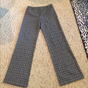 Long Elegant Legs Pants - NEW PLAID Pants W/Cuffs Black/Gray Tall 10 Pockets