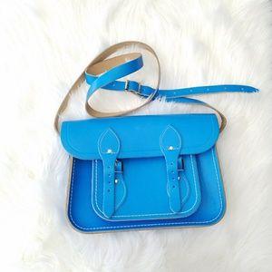 The Cambridge Satchel Company Handbags - The Cambridge Blue Silver Messenger Crossbody Bag