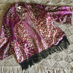 Bar III Sweaters - Kimono Shawl with Fringe!