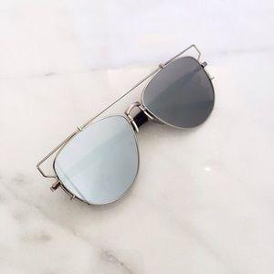 Dior Accessories - Silver retro sunglasses