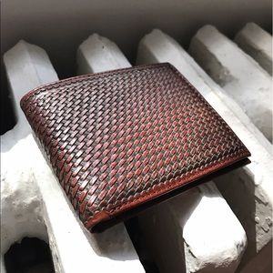 Will Leather Goods Other - WILL premium leather cross stitched bifold wallet