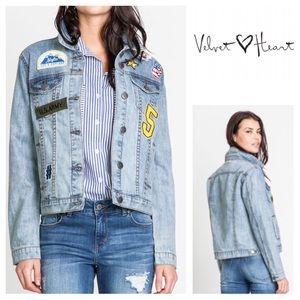 Velvet Heart Jackets & Blazers - Velvet Heart Patched Denim Jacket🆕