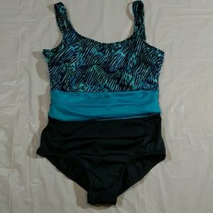 Maxine of Hollywood Other - Maxine of Hollywood swimsuit size 12 blue black