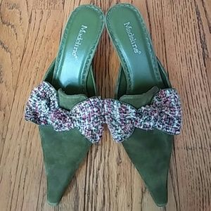 Madeline Stuart Shoes - Cute and Funky Suede Heels Size 6M