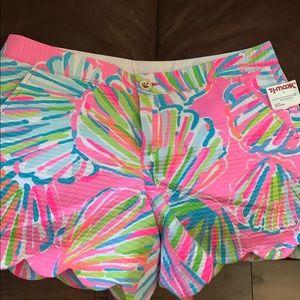 NWT Lilly Pulitzer Shorts - Size 8, Shellebrate