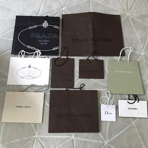 Designer paper shopping bags