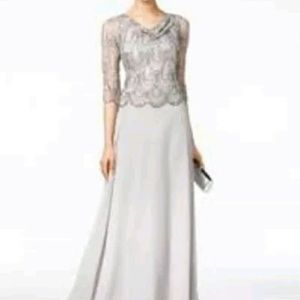 J Kara Dresses & Skirts - J Kara Embellished Cowl-Neck Gown