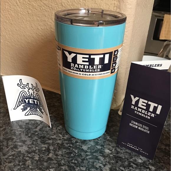 Tiffany Blue 20oz Yeti Rambler cup! brand New! NWT NWT