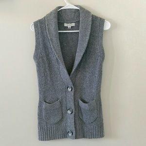 Merona Sweaters - Merona Grey knit cardigan sweater vest
