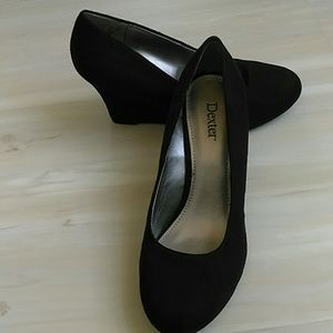 Dexter Shoes - Black suede wedges