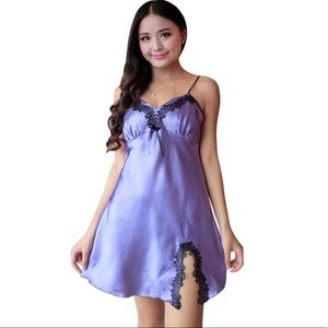 💗Sexy Satin, baby doll, chemise, Nightgown pink