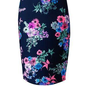 AX Paris Curve Dresses & Skirts - Tess Holiday's closet: AX Paris floral Navy skirt