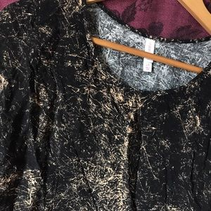 rustic tie dye xhilaration top high low shirt sexy