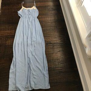 Peach Love California Light Blue Maxi Dress