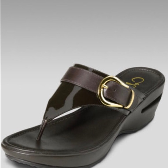 4e3051337f4 Cole Haan Shoes - Cole Haan Air Maddy Thong Wedge Sandal 6.5 bronze