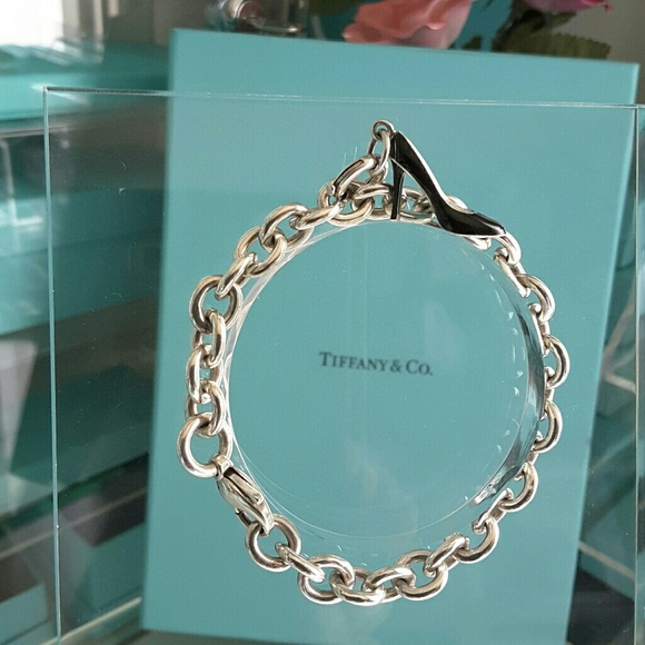 38633ce20f4b Tiffany   Co Blue Black Enamel Shoe Charm Bracelet.  M 590ceea83c6f9ff799017e16
