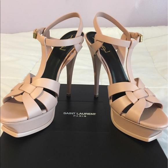 50 yves laurent shoes ysl pale pink tribute