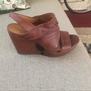 Coccoli Shoes - Like new Cocclico Brown Wedges