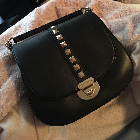 9de227177bb5 Calvin Klein Handbags - Rare Studded Calvin Klein Saddle Bag