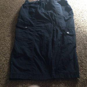 Lane Bryant Pants - Lane Bryant Size 24 Black Cargo Capris pants.