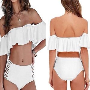 C I  Other - Beautiful white Bardot top bikini set