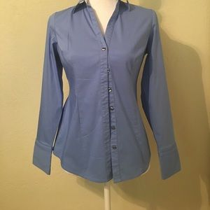 Express Tops - Express blue button down. Great silver accents!