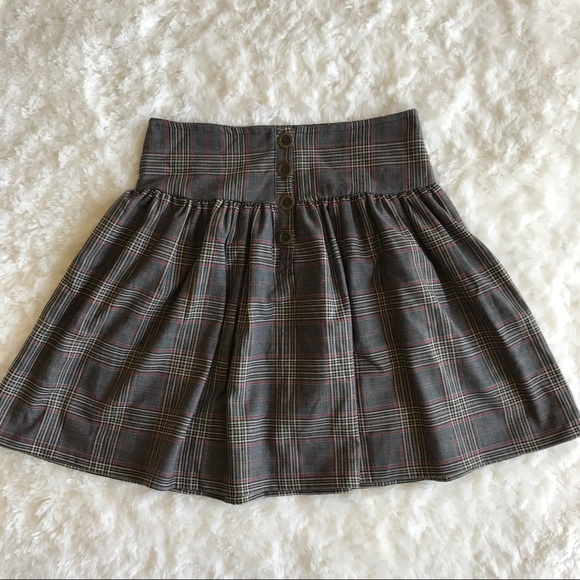 64 off zara dresses skirts zara basic plaid swing skirt with buttons from min 39 s closet on. Black Bedroom Furniture Sets. Home Design Ideas