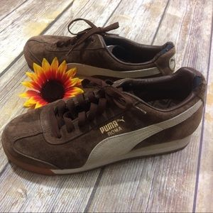 puma Shoes - Brown puma suade sneakers