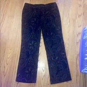 Vntg FIRST OPTION Brown Paisley Trousers EUC 14