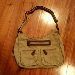 Handbags - Tan canvas bag.