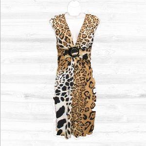 Cache Dresses & Skirts - Cache Body Con Leopard Print Dress-10