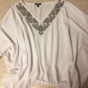Dressy shear white top